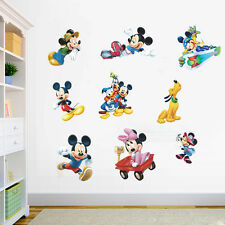 Mickey Mouse Minnie Vinyl Mural Wall Sticker Decals Kids Nursery Room Decor