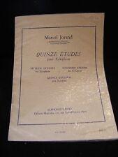 Partition Quinze études pour Xylophone Jorand Dupin Music Sheet
