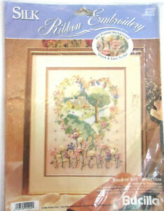 """Bucilla Silk Ribbon Embroidery Kit, """"Heart Cottage"""" 41024 by Trice Boerens"""