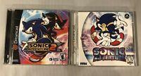 Sonic Adventure and Sonic Adventure 2 Sega Dreamcast Games Lot
