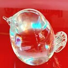 Vintage Hadeland Norway Crystal Glass Bird Figurine Paperweight Signed