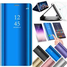 Mirror View Flip Leather Case Cover for Samsung Galaxy J3 J5 J7 Pro J4 J6 J8