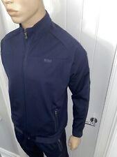 Hugo Boss Blue Tracksuit Zipped Jacket & Pant Mens Medium RRP £288 Bargain £109
