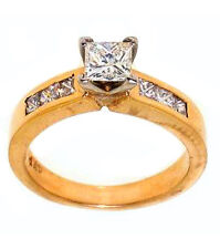 1.05ct Princess Cut Diamond Ring 14k Yellow Gold