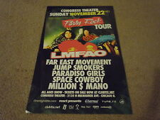 LMFAO Concert POSTER for Party Rock CD 2011 Tour