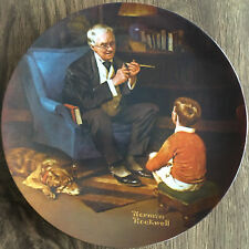 "Rockwell Heritage Collection (1982) - ""The Tycoon� - The Bradford Exchange Plate"