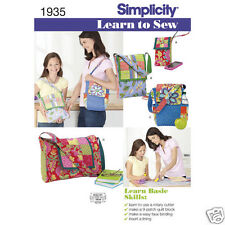 S1935 Learn To Sew Patchwork Quilting Bags Simplicity Sewing Pattern
