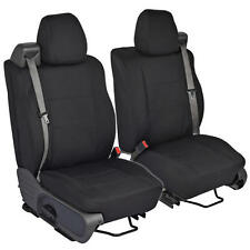 Black Front Pair Custom Seat Covers for Ford F-150 04-08 Integrated Seat Belt