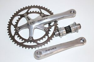 SHIMANO DURA ACE CHAINSET / CRANK 175mm 9 SPEED DOUBLE ROAD RACE BIKE FC 7701