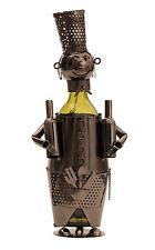 EXTRAVAGANTES Vino Soporte de botellas moderno barkeeper de metal Altura 38cm