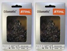 2 Original Stihl Sägekette 35 cm 3/8 1,3 mm 50 TG Picco Micro PM3 3636 000 0050