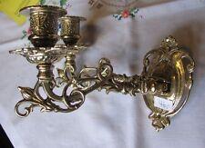Jugendstil Klavierleuchter Wandleuchter zweiarmig Kerzenleuchter aus Messing