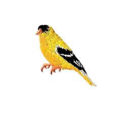 Bird - Goldfinch - Finch - Bird Watching - Embroidered Iron On Applique Patch