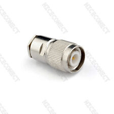 TNC Male plug Clamp Coaxial Connector For LMR195 RG58 RG400 RG142 Cable