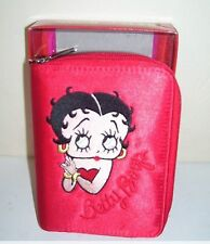 Betty Boop Red Wallet Organizer 2 Zipper Weekly Monthly Openings Tabs