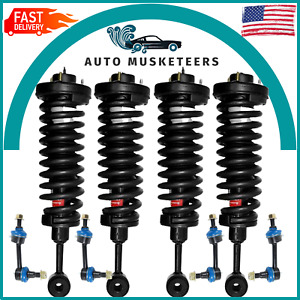 Front & Rear Complete Strut & Sway Bar Set For Ford Expedition Lincoln Navigator