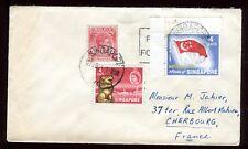 Singapour - Enveloppe pour la France en 1961