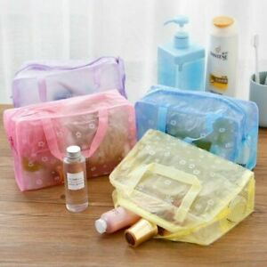 Waterproof Bathing Pouch Cosmetic MUA Toiletry Shower Travel Holiday Gym Bag UK