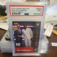 2019 Panini Instant Zion Williamson Draft Night #DNZW GRADED PSA  MINT 9