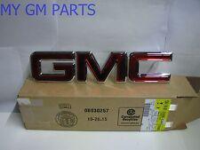 "GMC SIERRA GMC YUKON RED ""GMC"" GRILLE EMBLEM 2000-2006 NEW OEM  22881265"
