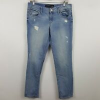Express Stella Low Rise Ankle Skinny Womens Light Wash Blue Jeans Sz 4 - 31 x 30
