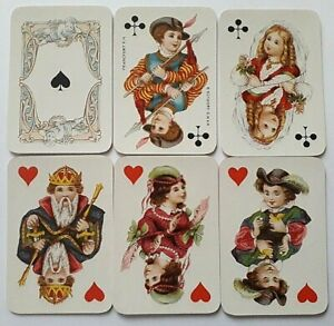 ANTIQUE PLAYING CARDS DONDORF No25 KINDER CARTES PATIENCE 52 DECK NO INDEX 1900