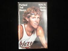 1974-75 Portland Trail Blazers Basketball Media Guide