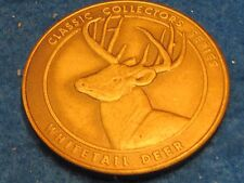 Whitetail deer large collectors medallion.. combine shipping 10 items for $2.60