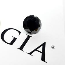 8.94 Carat Fancy Black Diamond GIA CERTIFIED Loose Natural Color Round Shape NR
