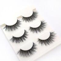 3D Paar Mink Natur lange Falsche Wimpern HUDA Künstliche Augen Wimpern Eyelashes