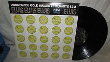 ELVIS PRESLEY RCA LP WORLDWIDE GOLD AWARD HITS PARTS 1 & 2 M- BLACK LABEL