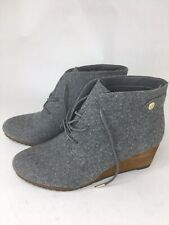 Dr. Scholls Conquer Wedge Bootie Memory Foam Cool Fit Grey 7M