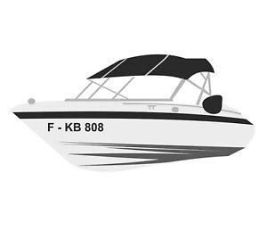 2x Bootskennzeichen Boot Kennzeichen Bootsname Bootsnummer Bootbeschriftung -A10
