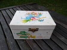 "LOVELY VINTAGE KITSCH JAPANESE CHILDS MUSICAL BOX BY FARRINGTON ""LOVE STORY"""