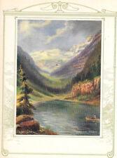 R. Atkinson Fox, Canoe, Indian, Buck, Mt's, Salesman Sample Calendar Top 1920s