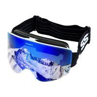 Snowboard Ski Goggles Anti-Fog/Wind UV400 Double-Lens Winter Snow Sport Glass