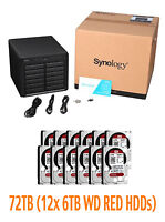€ 3182+IVA SYNOLOGY DiskStation DS2415+ 12-Bay NAS 72TB (12x6TB WD RED)