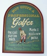 Not Quite A Professional Golfer Wooden Wall Hanging Art 3D Golfer
