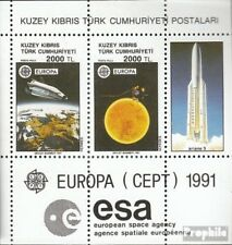Turkish-Cyprus block9 mint never hinged mnh 1991 Space