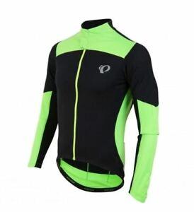 Pearl Izumi Men's Pro Pursuit Green /Black LS Wind Jersey -XXL New - RRP £99