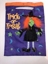 Plush Witch Trick Or Treat Bag