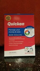 QUICKEN DELUXE 2021 FOR PC and MAC, CD IN BOX, 1 YR SUBSCRIPTION, NEW & SEALED