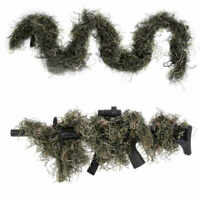 3D CAMOUFLAGE RIFLE GUN COVER WRAP AROUND HUNTING WOODLAND SHOOTING GHILLIE SUIT