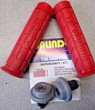 "GALINDO DESIGNS ""THE GRIPPER"" RED GRIPS + BAR ENDS PWC ATV MOTOCROSS 7/8"" BARS"