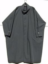 "Shirin Guild GRAPHITE Light Weight Cotton Trench 48"" Long Coat Generous M  $1690"