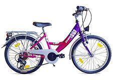 20 Zoll Kinderfahrrad 6 Gang Shimano Mädchenfahrrad mit Beleuchtung Fahrrad