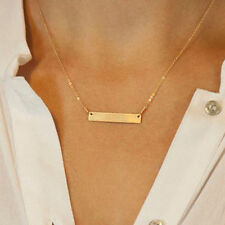 Lady Horizontal Stick Noble Simple Bar Bone Pendant Chain Necklace Jewelry Gift