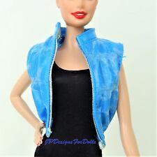 Barbie Fashion Blue Faux Leather Oreo Vest