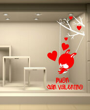 VSV0165 Vetrofania s.valentino adesivi murali wall stickers Coniglietto 61x120cm