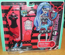 Monster High Ghoulia Yelps Fashion Pack Dress outfit Shoes Purse Mattel 2012 MIP
